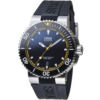 Oris豪利時 Aquis 專業潛水 機械錶 0173376534127-0742634EB