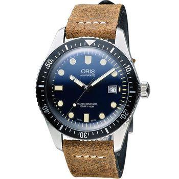 Oris豪利時 Divers系列 Sixty-Five潛水機械腕錶 0173377204055-0752102
