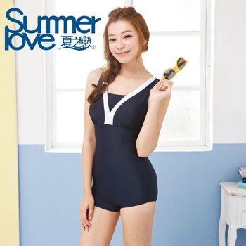 【Summer Love夏之戀】競泳V領連身四角泳衣(E14738)