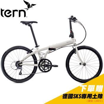 Tern Node D16 鋁合金24吋16速折疊單車-白底灰標
