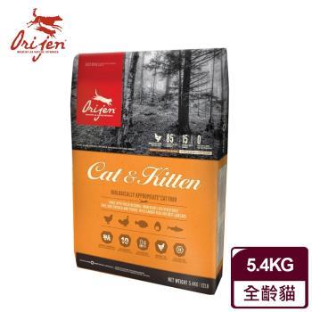 【渴望Orijen】挑嘴貓配方 成幼貓專用 野牧鮮雞+鮮魚(5.4公斤/12LB)
