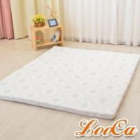 LooCa 棉柔5cm天然乳膠床墊(單大3.5尺)