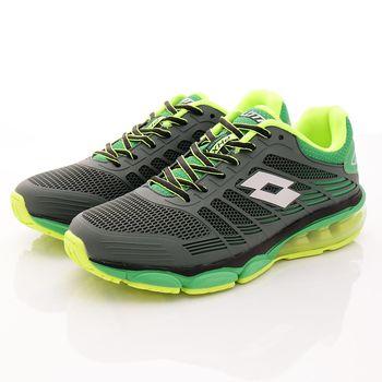 Lotto樂得-PHOENIX KPU氣墊跑鞋-MR5015綠(男款)