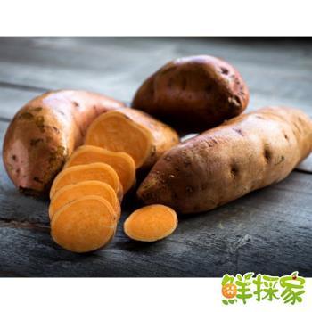 鮮採家 台灣香甜綿密地瓜番薯3台斤1箱