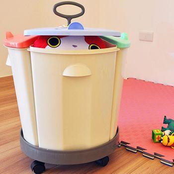 [Conalife]寶貝玩具/衣物/露營各式物品帶輪分類收納桶