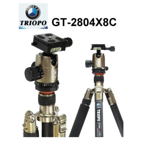 捷寶Triopo GT-2804X8 碳纖腳架附球形雲台(金色)~公司貨