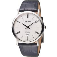 SEIKO 精工 Premier 超薄系列石英腕錶 7N39-0CA0P SKP395J1