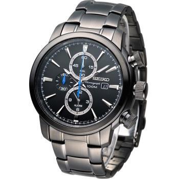 精工 SEIKO 鷹眼大錶徑多功能鬧鈴腕錶 7T62-0LG0SD   SNAF49P1