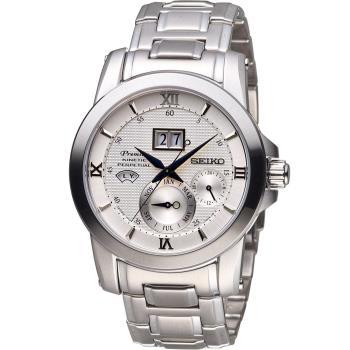 SEIKO 精工 人動電能自動追時萬年曆腕錶 7D48-0AR0S SNP133J1