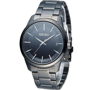 SEIKO Spirit 簡約時尚萬年曆太陽能電波腕錶 7B24-0BJ0SD SBTM235J