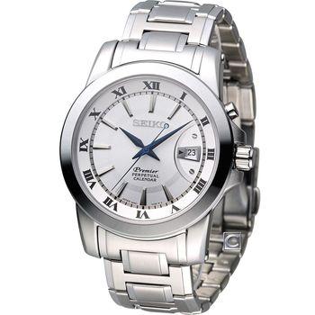 精工 SEIKO Premier 沉穩商務萬年曆腕錶 6A32-00X0S SNQ139J1