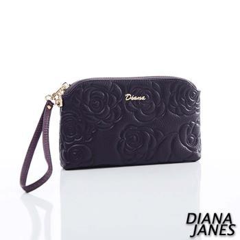 Diana Janes 牛皮 玫瑰壓花手抓包