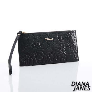 Diana Janes 牛皮 玫瑰壓花鈔票夾