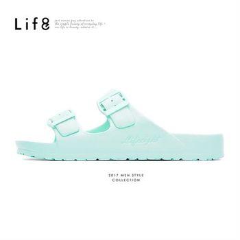 Life8-Casual 馬卡龍系列 品牌漂浮涼拖鞋-09634-水藍