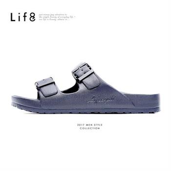Life8-Casual 馬卡龍系列 品牌漂浮涼拖鞋-09634-銀灰