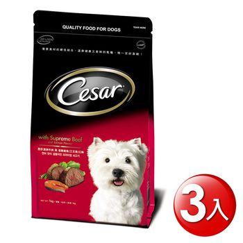 西莎 精緻乾糧 澳洲牛肉與低敏鮭魚口味 1kg x3入