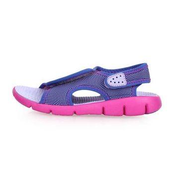 NIKE SUNRAY ADJUST 4-GS/PS女童涼鞋-童鞋 兒童 淺紫粉