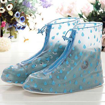 【挪威森林】高質感時尚加厚止滑防雨鞋套_優雅外出鞋子乾爽