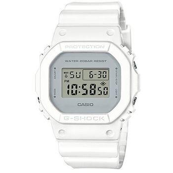【CASIO】G-SHOCK 經典潮流簡單數位設計概念休閒錶 - 白 (DW-5600CU-7)