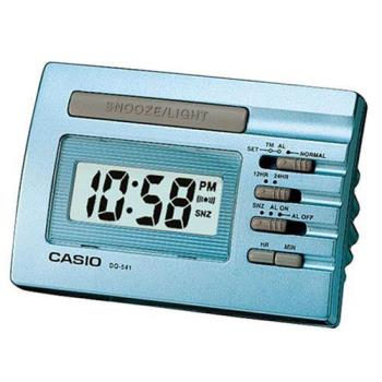 【CASIO】實用貪睡桌上型鬧鐘-藍 (DQ-541D-2)