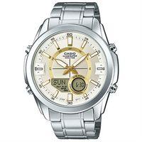 【CASIO】卡西歐雙顯多時區電子鋼帶錶- 金 (AMW-810D-9A)
