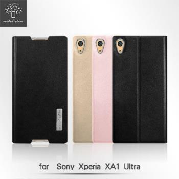 Metal Slim SONY Xperia XA1 Ultra 超薄細紋 TPU內層 側翻 站立皮套