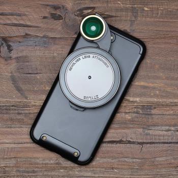 ZTYLUS iPhone 7 4.7吋 手機殼 + RV-3 四合一鏡頭 (ZIP-MKIT-7,RV3,公司貨)微距 廣角 魚眼 偏光