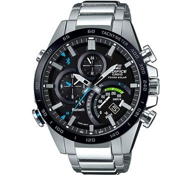 【CASIO】EDIFICE飛機儀表設計GMT賽車藍芽錶 - (EQB-501XDB-1A)