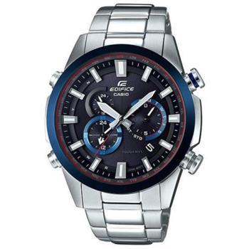 【CASIO】EDIFICE 強悍科技城市重量級賽車電波錶- 藍 (EQW-T640YDB-1A2)