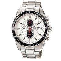 【CASIO】EDIFICE 智慧時尚品味新指針男錶-白面黑框(EF-547D-7A1)