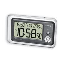 【CASIO】測溫型數字電子鬧鐘-銀黑 (DQ-748-8)