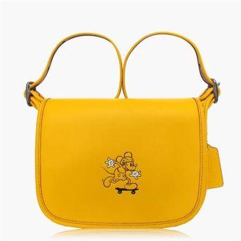 COACH 外出推廌 皮革 / 側背 / 斜背包(米奇限定款)_黃色