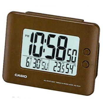 【CASIO 】全方位溫濕度感應貪睡數位鬧鐘-咖啡色 (DQ-982N-5)