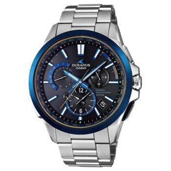【CASIO】OCEANUS極致完美躍動GPS電波頂級腕錶 - 藍 (OCW-G1100TG-1)