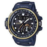 【CASIO】G-SHOCK 強悍進階版海軍風開發概念電波錶-金圈X藍 (GWN-Q1000NV-2A)