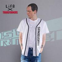 Life8-變形金剛 街頭運動 網眼棒球TEE-03830-白色