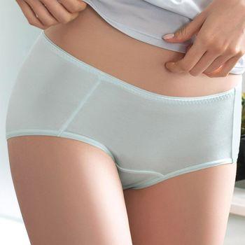 任-【華歌爾】COOL冰涼褲M-LL中低腰平口褲(綠)