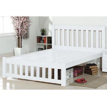 【時尚屋】[MT7]沙也加白色雙人床MT7-183-7不含床頭櫃/免運費/免組裝