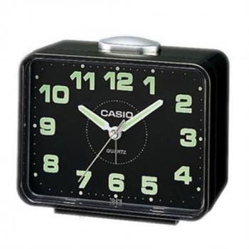 【CASIO】夜間實用桌上型鬧鐘-黑 (TQ-218-1D)