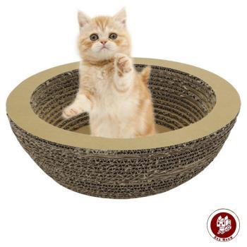 CS006瓦楞貓抓板-貓盆