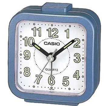CASIO 桌上型指針鬧鐘-藍 (TQ-141-2)