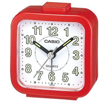 【CASIO】 桌上型指針鬧鐘-紅(TQ-141-4)