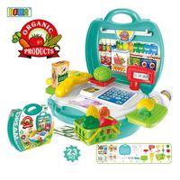 【17mall】多功能家家酒兒童玩具-仿真手提收納蔬果超市/水果超市/收銀機玩具