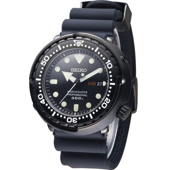 SEIKO PROSPEX Marinemaster 鮪魚罐頭專業300米潛水錶 7C46-0AG0D SBBN035J 黑