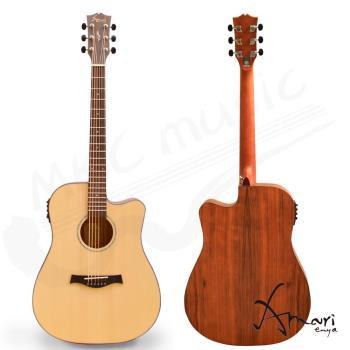 Amari 41吋 面單雲杉側背胡桃 EQ附調音 民謠吉他(4188WCE)加贈超值五寶