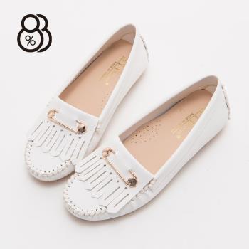 88% IT台灣製金屬別針皮革圓頭包鞋小白鞋豆豆鞋樂福鞋娃娃鞋