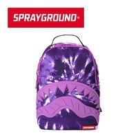 【SPRAYGROUND】DLX 系列 Purple Haze Shark 紫色鯊魚潮流筆電後背包