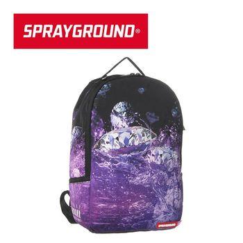 【SPRAYGROUND】DLX 系列 Purple Diamond 紫色鑽石潮流筆電後背包