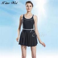 泳之美 俏麗氣質時尚加大碼連身裙泳裝 NO.2352H-4L