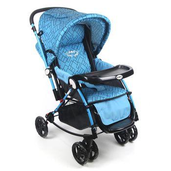 EMC全罩式三用豪華推車(搖床、搖椅、推車)藍色